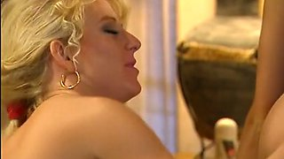 Mesmerizing duo of horny blonde babes pleasure each other on the bed