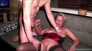 Gilf wife is drunk and fucks hubby and coworker