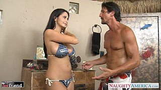 Husband Tommy Gunn is craving for busty wife's friend Ava Addams