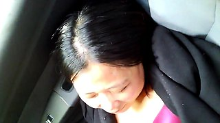 Older chinese woman shows cunt in car.. put dick in (part 3)