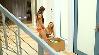 Two girls that love sex toys explore each other's bodies with them
