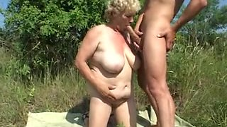 Indecent grannies fuck hard in retro video