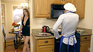 Rick housewife Samantha Hayes has an affair with her cooker
