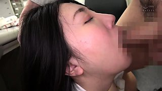 Pantyhosed Japanese babe takes a hard pounding in the office