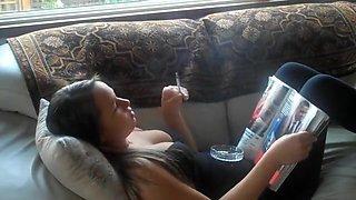 Amazing homemade Smoking, Solo Girl porn scene