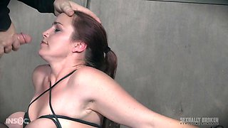 Babe in high heels Bella Rossi abused with cock in her mouth