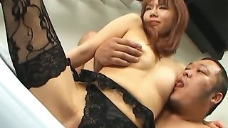 Himena Ebihara lovely Asian babe gets her shaved pussy