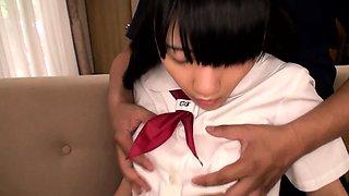 Schoolgirl nippon teen banged doggystyle