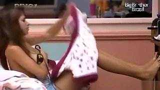 Big Brother participant gets caught on camera changing into her swimming suit