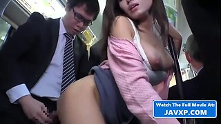 Hot Asian Babe On The Bus, Japanese Jav