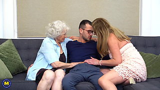 Home sex with moms and granny and boys