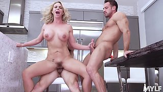 Horny stepmoms, housewives and teachers bang young men compilation video