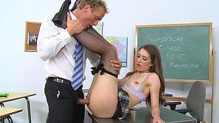 Teacher deals cutie in his list of student girls that were fucked