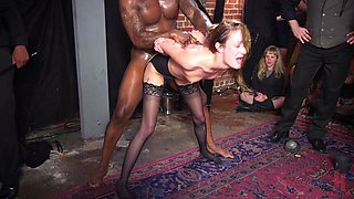 Rough ass fucking in public for Aiden Starr and Victoria Voxxx