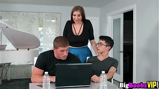 Curvy beauty Alex Chance big boobs seduces bf best man