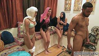 Nurse group Hot arab damsels try foursome
