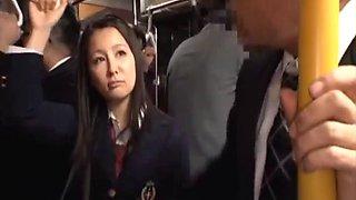 Japanese girl on a bus