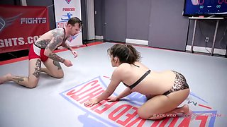 Mixed nude wrestling with victoria voxxx fucking the loser