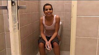 Toilet Threesome Fuck Action