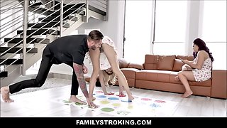 Step daughter &amp step dad twister fucking in front of mom