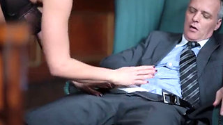 Horny MILF Iron Lady fucked in her office