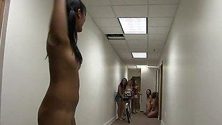 College Girls Ride A Bike Naked As Sorority Dare