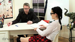 Dane Jones Teacher spanks and fucks naughty schoolgirl