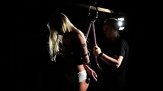 Teeny teased and fucked in bondage