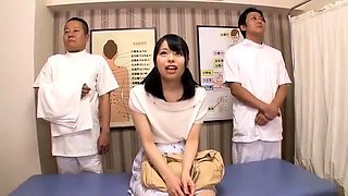 Two Asian Massage Girls Double Teaming A Massage Addict