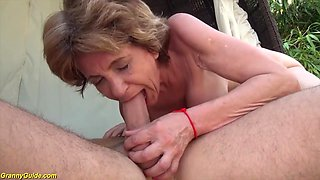 76 years old step mom destroyed by big dick