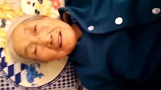 Chinese 75yo Granny Creampie