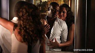Romantic video of curly haired ebony babe Tina Kay having sex