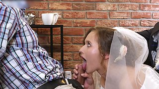 Amazing XXX cuckold scene with a cock hungry bride