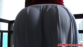 Round booty babes twerking and getting groped
