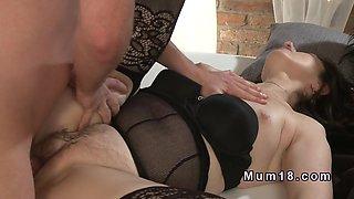 Mature ladies in lingerie in foursome