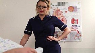 Nurse Domina Watches Jerk