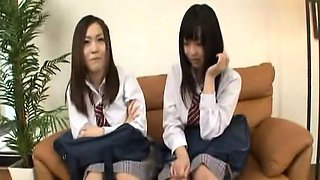 Subtitled CFNM Japanese schoolgirls interview surprise