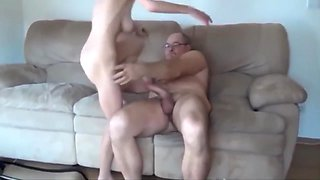 Sugar Daddy With Monster Cock Fucks Ugly 20yo Girl With Hairy Pussy