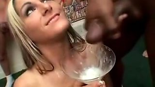 A compilation of Sluts swallowing and eating cumshots