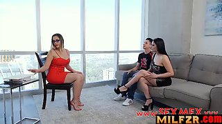Mom and son latina therapy