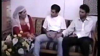 Arabian MILF gangbanged in Muslim Group Sex by Two Small Asian Semitic Arab Dicks