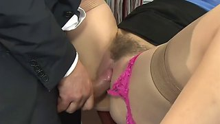 Beautiful secretary fucked in office
