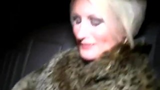 First time dogging for sexy british mature