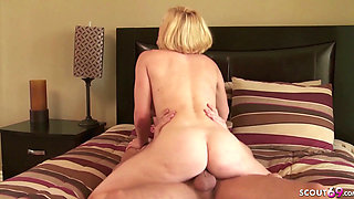 Nympho Mother Krissy Seduce Step Son to Fuck When Dad Away