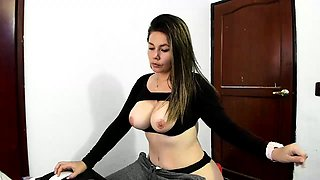 Huge puffy nipples milk lactating boobs from latina slut