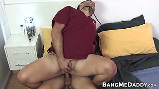 Latin twink barebacks mature doctor and cums in his mouth