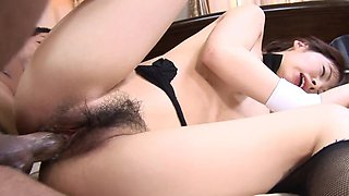 Asian beauty engages in a role play and hot sexual intercourse