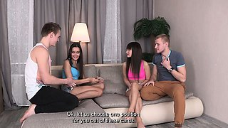 Young Sex Parties - Foursome party with sex cards