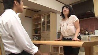Yukari Orihara panty line of captivating see-through skirt
