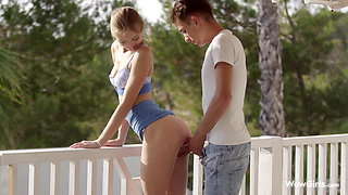 WOWGIRLS, Marie Pie in a Fabulous Lovemaking on the Terrace